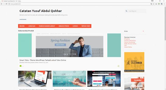 yusabdul.com diakses lewat Google Chrome