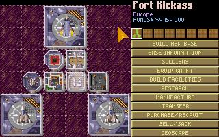 UFO X-Com Amiga base screen