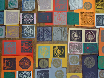 collagraph prints made for upcoming show at Library gallery in Drumheller, AB