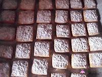 Hojaldrinas cubiertas con el azúcar glass