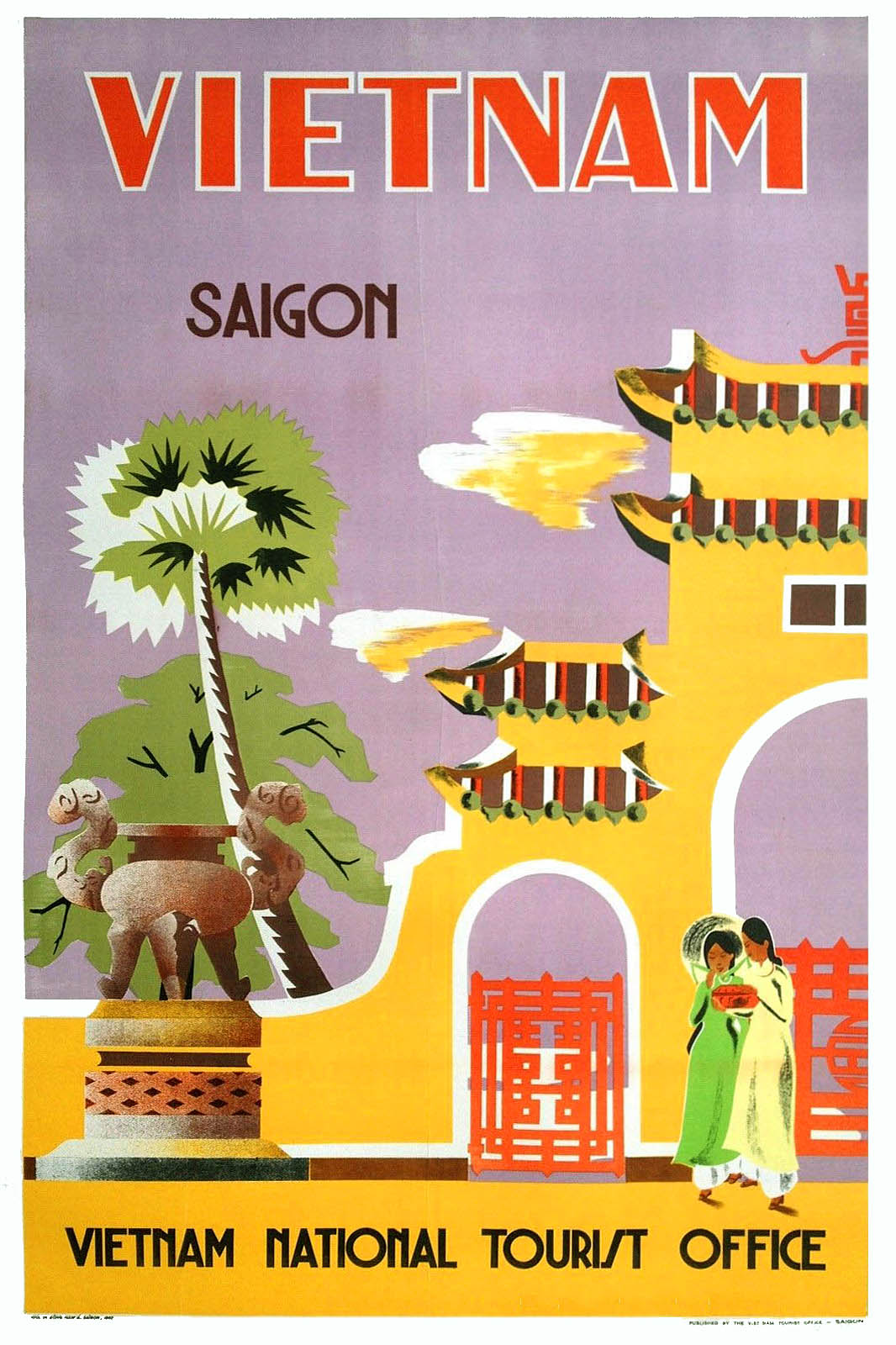 rare and beautiful vintage vietnamese tourism posters from