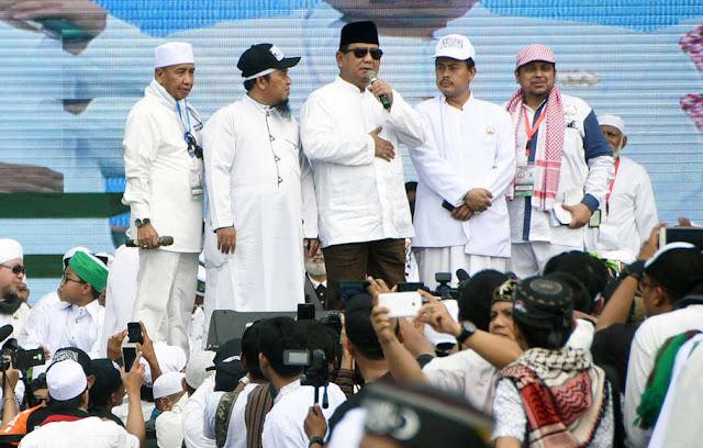 Prabowo Marah Media Tak Ungkap Jumlah 11 Juta Massa Reuni Akbar 212
