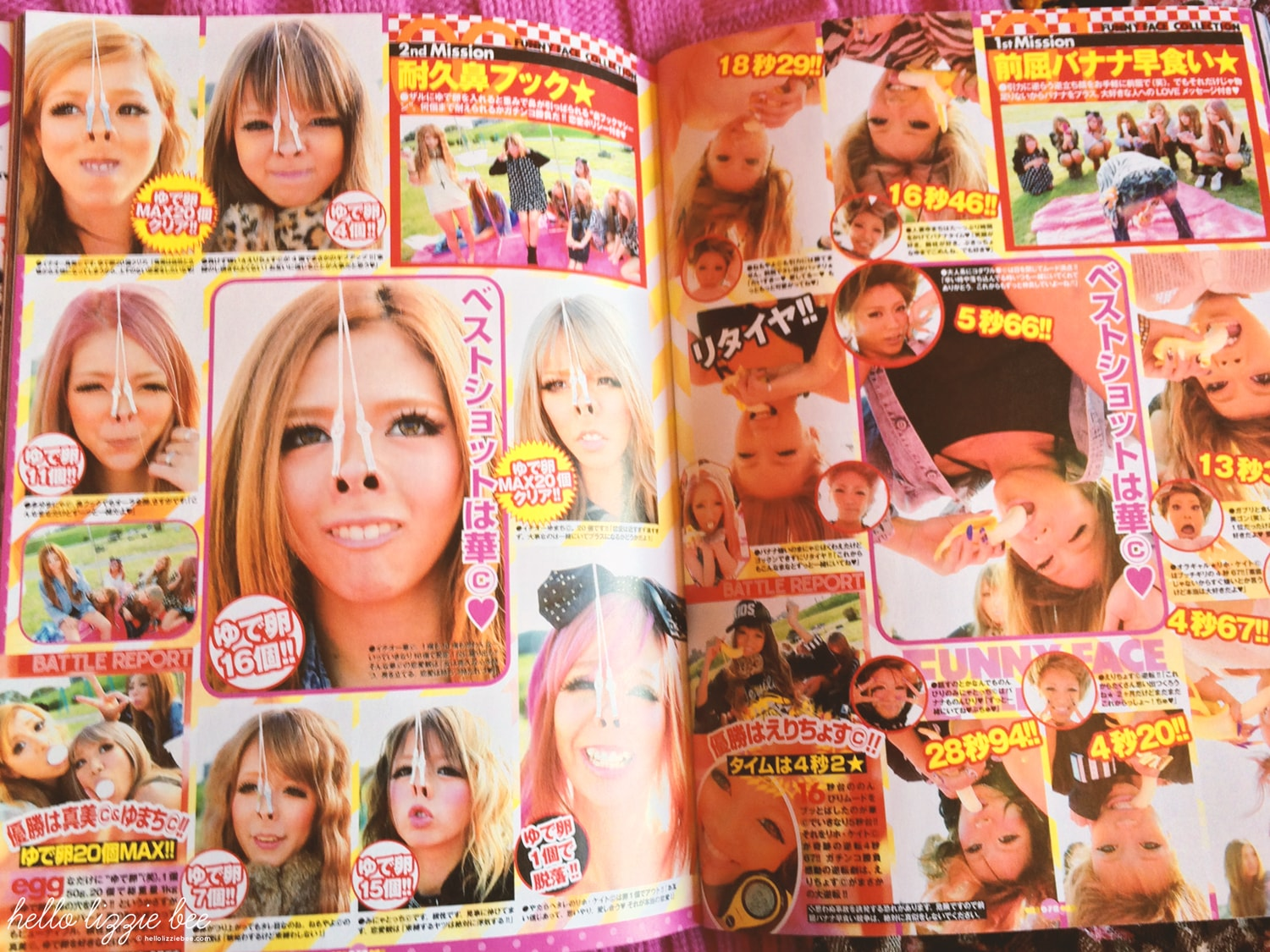 EGG gyaru magazine, funny faces