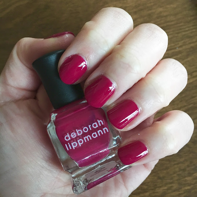 Throwback Thursday, #tbt, manicure, nails, nail polish, nail lacquer, nail varnish, Deborah Lippmann Raspberry Jam, Deborah Lippmann Very Berry Collection