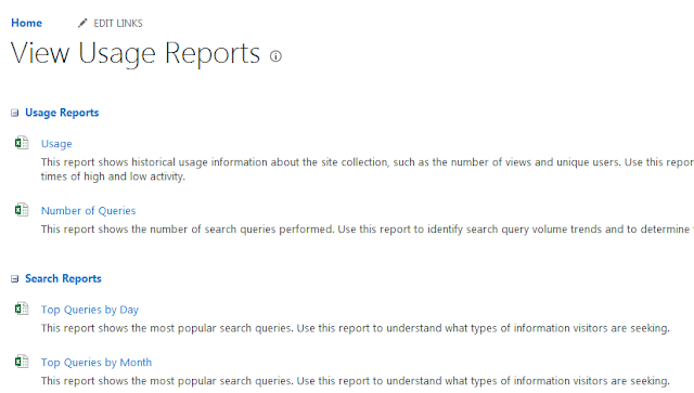SharePoint Online/2013 Site Usage Reports and Popularity Trends