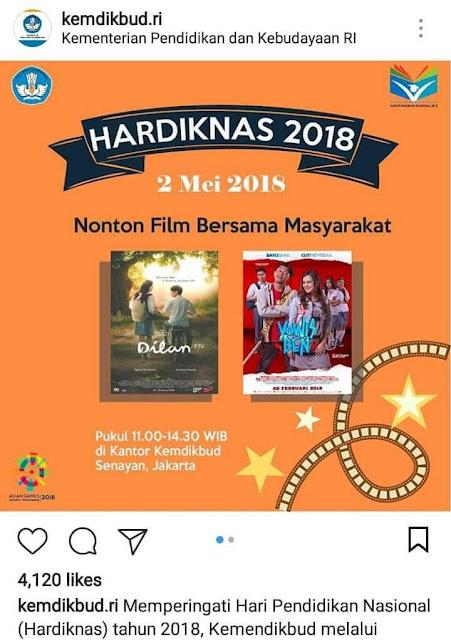 "Heboh Kemdikbud Adakan Nobar Film ""Dilan"", Inilah yang Terjadi"