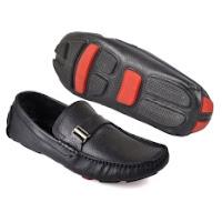 daftar harga sepatu pria terbaru CBR SIX HMC 506 Sepatu Loafers Bisa Buat Kerja - Kulit Asli - Keren - Hitam
