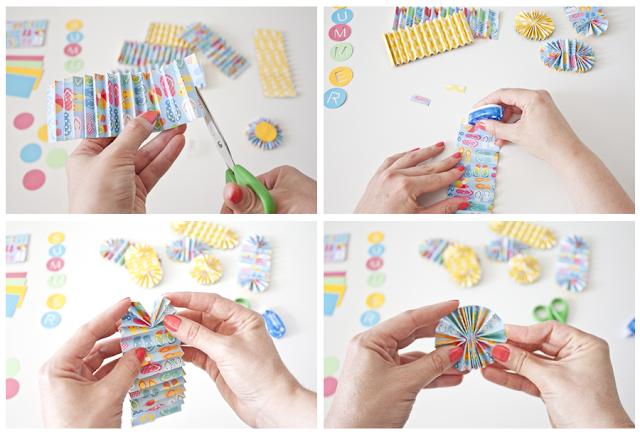 paso a paso rosetones de papel