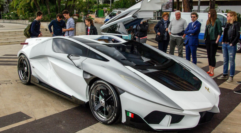 Fv Frangivento Asfane Hypercar Lands In Monaco From Space