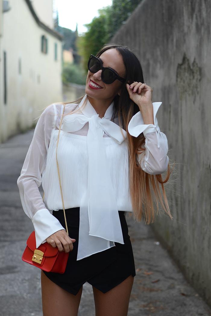 outfit camicia fiocco