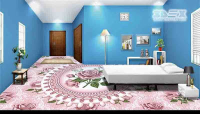 3D flooring design 3D epoxy floor coating for bathroom bedroom kitchen