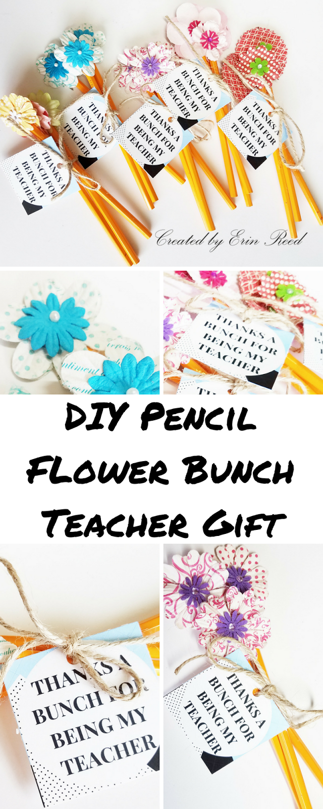 Scraps of reflection diy pencil flower bouquet teacher gifts with this year my daughter really wanted to help so we made something cute easy and fun a pencil flower bouquet using my flower stash and is a useful item izmirmasajfo