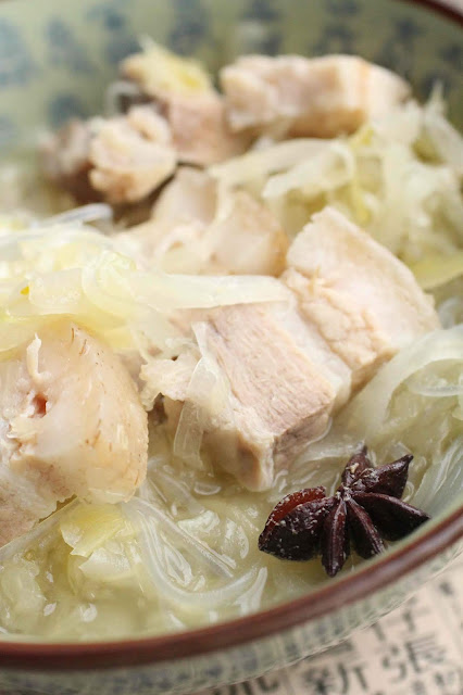 soupe chou et nouilles cellophane