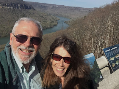 Tennessee River Gorge overlook at Raccoon Mountain Pumped Storage Reservoir - Power Plant
