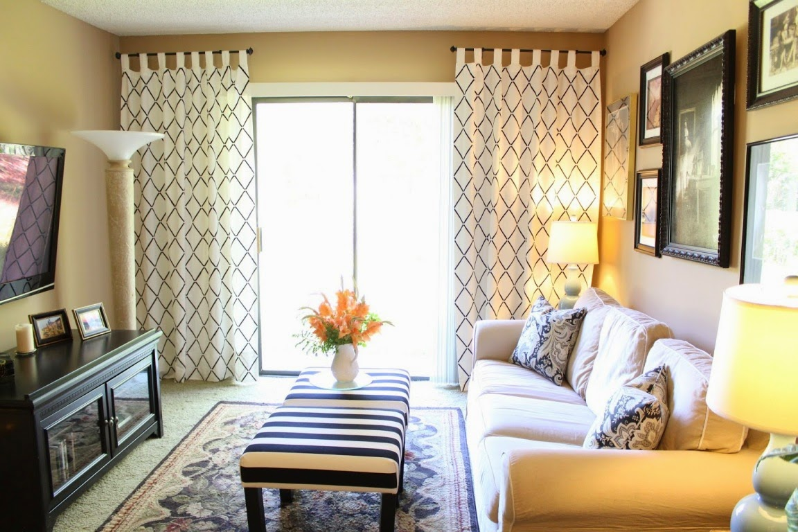 lovely ikea living room | Lovely Stenciled Curtains - IKEA Hackers - IKEA Hackers