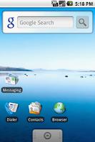 Screenshot Anroid 1.5 Cupcake