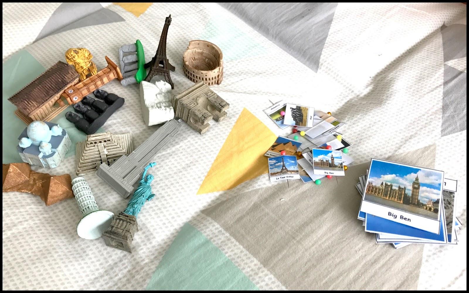 mon joli petit bureau les monuments du monde voyageons ludique 15. Black Bedroom Furniture Sets. Home Design Ideas