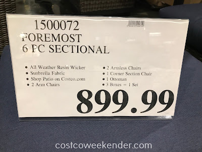 Deal for the Foremost 6-piece Woven Seating Set at Costco