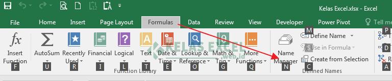 Shortcut Pada Excel