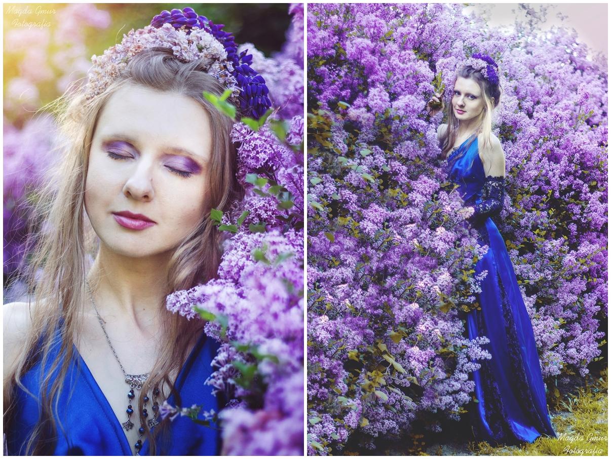 sesja w bzach, fioletowy bez, ogród botaniczny umcs, fotograf lublin, magda gmur fotografia, sesja w kwiatach