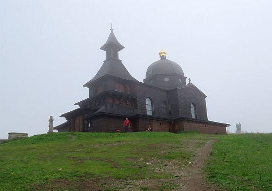 Kaplica pw. św. Cyryla i św. Metodego na szczycie góry Radhošť.