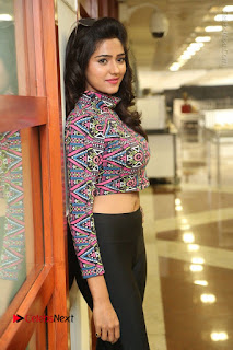 Actress Shalu Chourasiya Stills in Black Leggings at Marriage Needs Bridal Fashion Week 2017 Logo Launch  0030.JPG