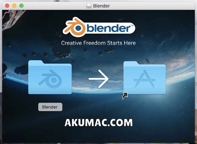 Install Blender di Macbook dengan Drag and Drop