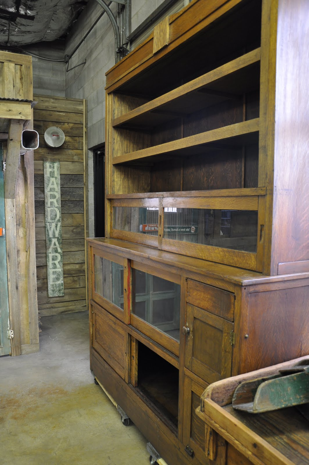 Oklahoma Barn Market Tobacco Back Bar Cabinet