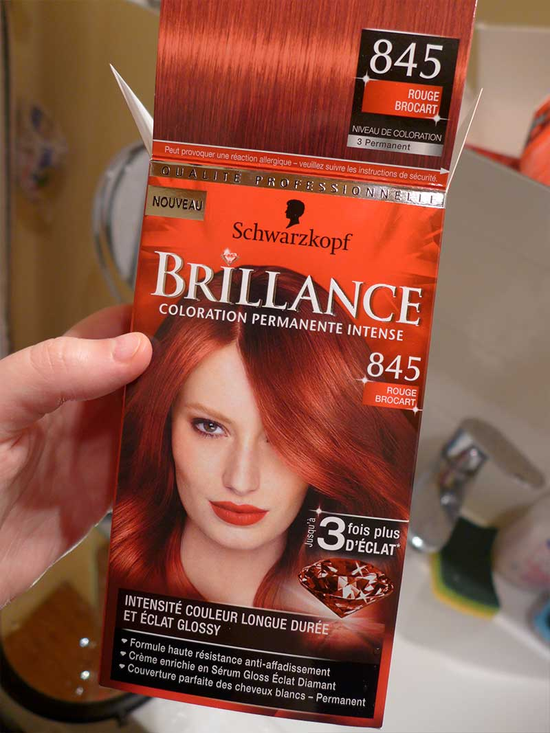 coloration rouge brocart 845 de schwarzkopf - Coloration Schwarzkopf