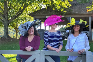 Some of our group members wearing their hats