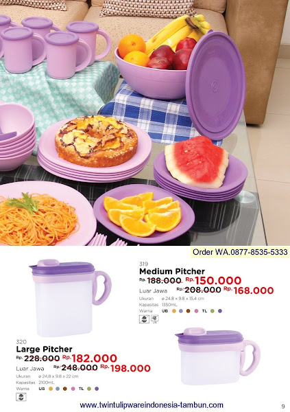 Promo Diskon Maret 2018, Large Pitcher, Medium Pitcher