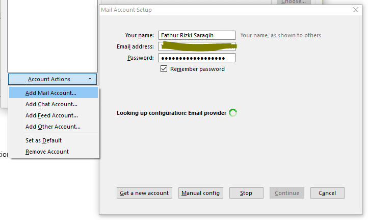 Add Mail Accont Mozilla Thunderbird
