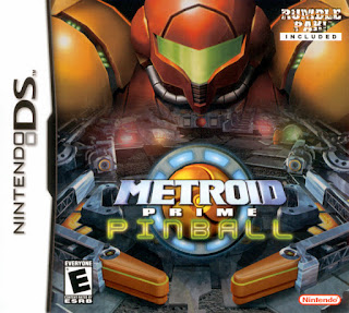 Portada del cartucho del Metroid Prime Pinball, Nintendo DS, 2005