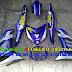 Sơn tem đấu xe Exciter 150 màu trắng xanh GP Movistar