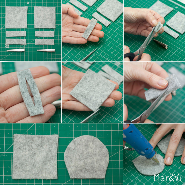 Mar&Vi Blog: DIY: Mollette per capelli decorate con feltro