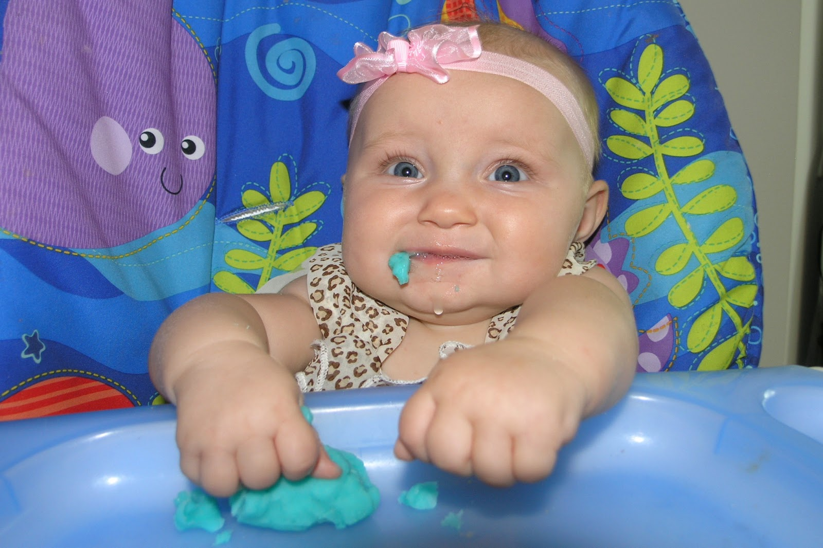 The Hendriksen Family: Zoo, eating, playdough, 5 months old