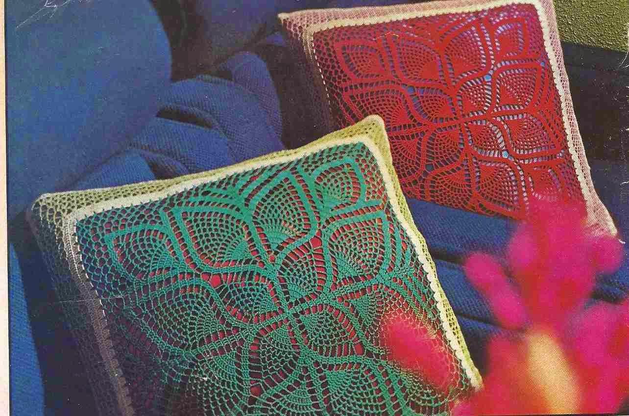 """Cojines """"Simetría"""" a Crochet o Ganchillo"""