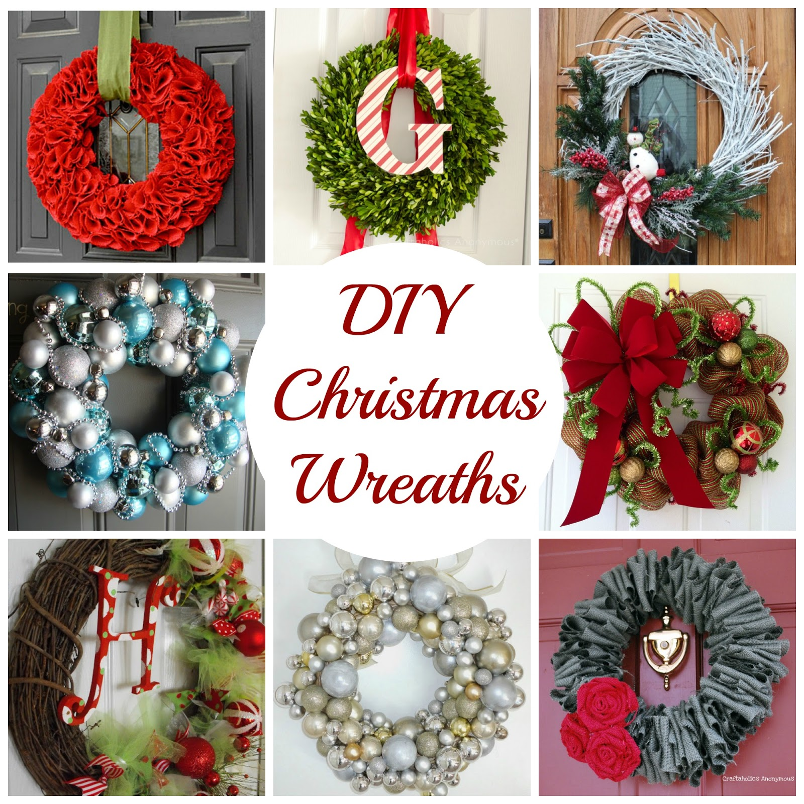 Decorating Wreaths: Decorating Cents: DIY Christmas Wreaths