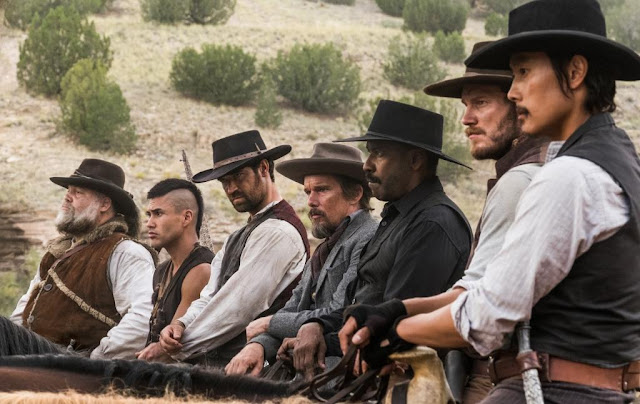 A Still from the first international trailer of Antoine Fuqua's The Magnificent Seven