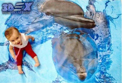 3d dolphin flooring, 3d dolphin tile, 3d epoxy floor with dolphin photo printing