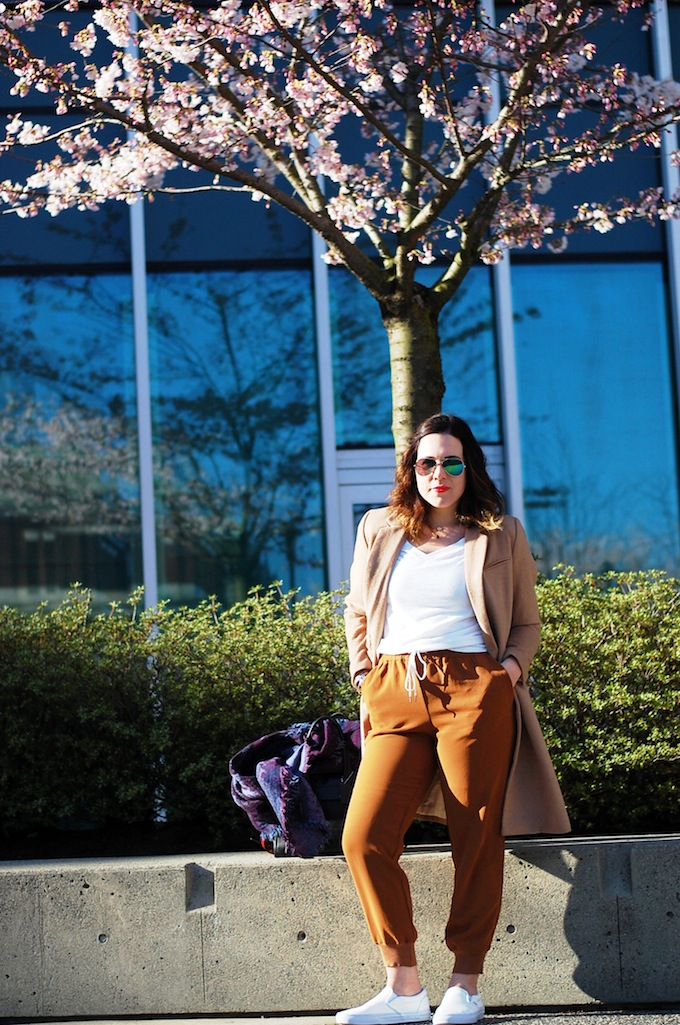 Vancouver cherry blossoms fashion blogger
