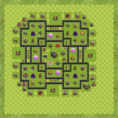 War Base Town Hall Level 9 By Pradeep Mehta (pradeep TH 9 Layout)
