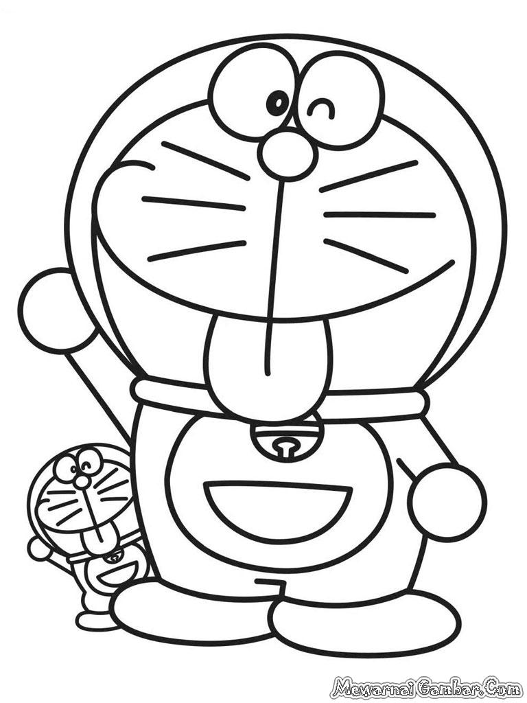 Gambar Kartun Hello Kitty Untuk Mewarnai Warnai Gambar