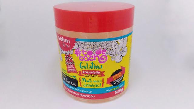 Gelatina #todecacho Mais Definição Transição Capilar Salon Line