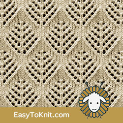 Eyelet Lace 89: Pinetrees | Easy to knit #knittingstitches #eyeletlace