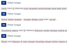 Contoh Soal Hasil dan Sebaran Kebudayaan Masa Islam