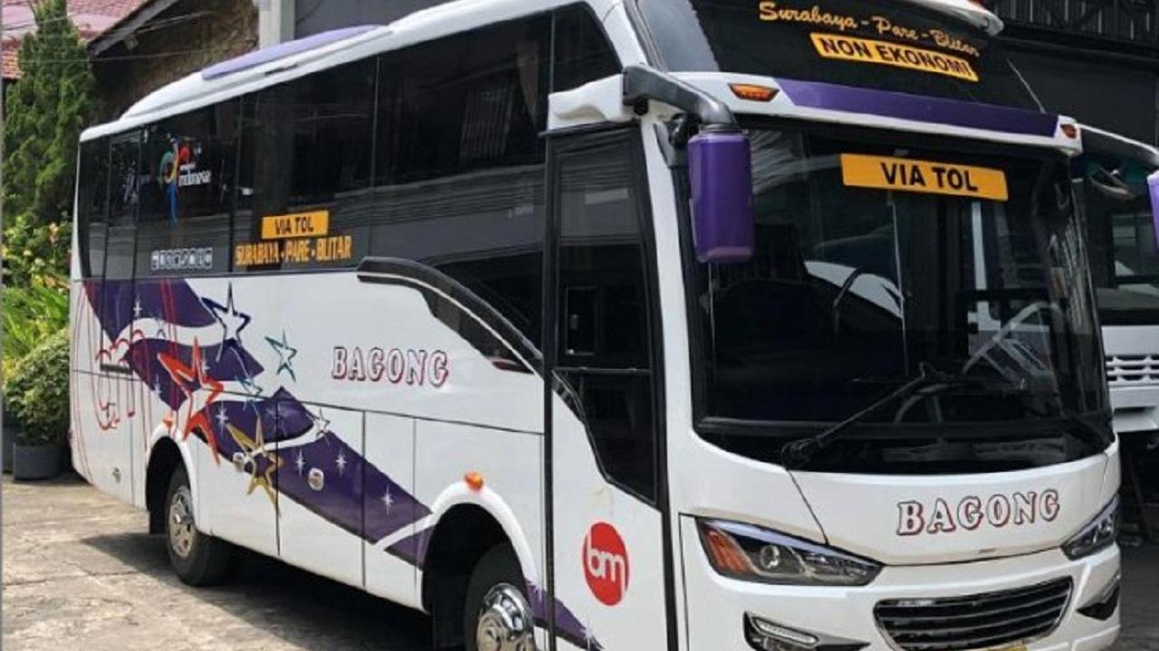 Jadwal Terbaru Keberangkatan Bus Bagong Rute Blitar - Pare - Surabaya Lewat Tol Panjang PP