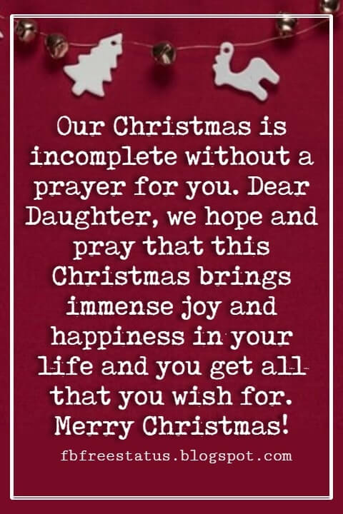Christmas Messages for Daughter