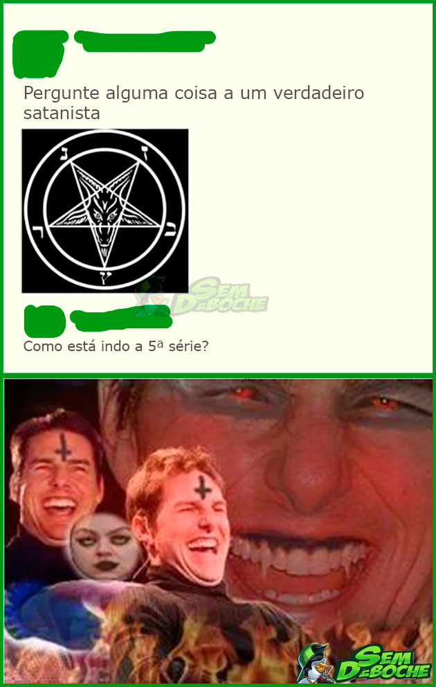 TROLLANDO O SATANISTA