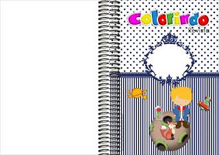Imprimible carátula de libro para colorear de Pequeño Principito.